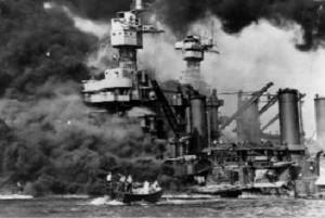 Navios americnos em chamas