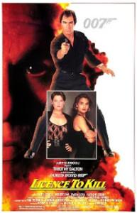 Poster de 007 - Permissão Para Matar (Licence to Kill) de 1989.