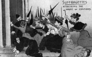 suffragettes-attacking-house-of-commons